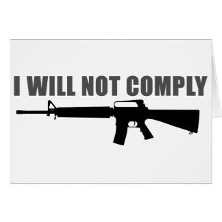 I will not comply greeting card