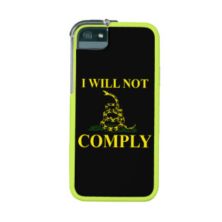 I Will Not Comply! iPhone 5 Covers