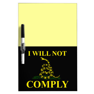 I Will Not Comply! Dry-Erase Whiteboards