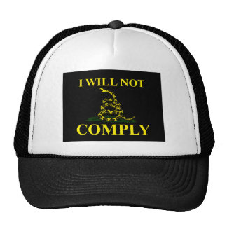 I Will Not Comply! Mesh Hats