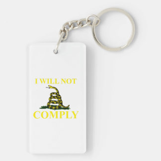 I Will Not Comply Keychain