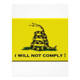 I will not comply letterhead