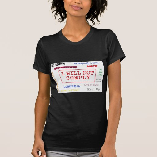 I Will Not Comply Line T-shirt