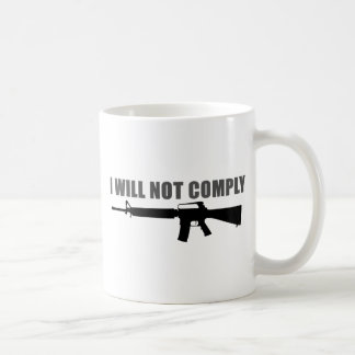 I will not comply classic white coffee mug