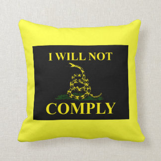 I Will Not Comply! Throw Pillow
