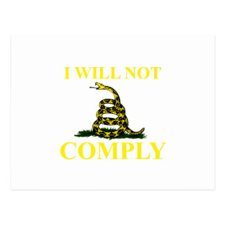 I Will Not Comply Postcard