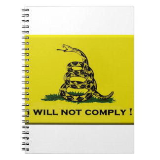 I will not comply spiral notebook