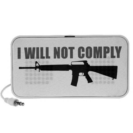 I will not comply travel speakers