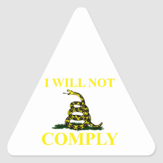 I Will Not Comply Triangle Sticker