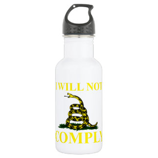 I Will Not Comply Water Bottle