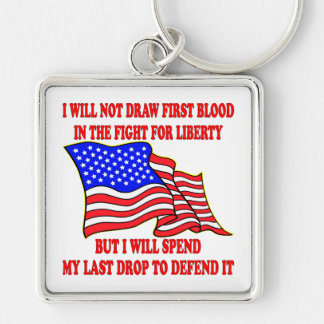 I Will Not Draw First Blood In The Fight Key Chains