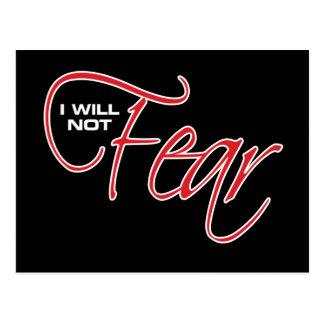 I Will Not Fear - Joel Osteen Postcard