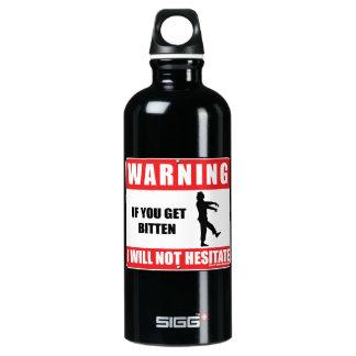 I Will Not Hesitate Aluminum Water Bottle