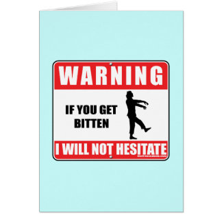 I Will Not Hesitate Card