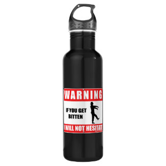 I Will Not Hesitate Stainless Steel Water Bottle