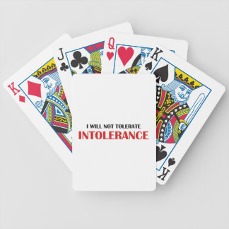 I Will Not Tolerate Intollerance Bicycle Playing Cards
