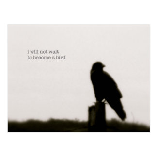 """i will not wait"" postcards"