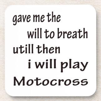 I will play Motocross. Drink Coaster