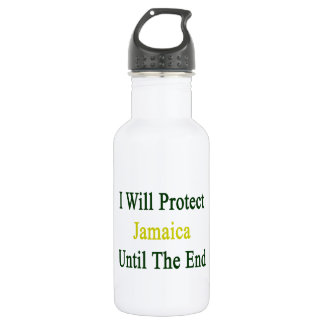 I Will Protect Jamaica Until The End 18oz Water Bottle