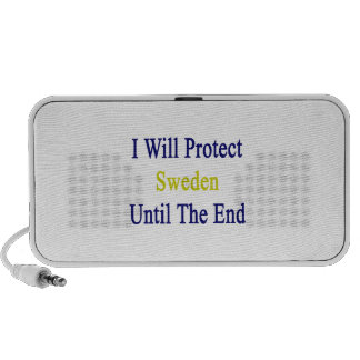 I Will Protect Sweden Until The End Portable Speaker