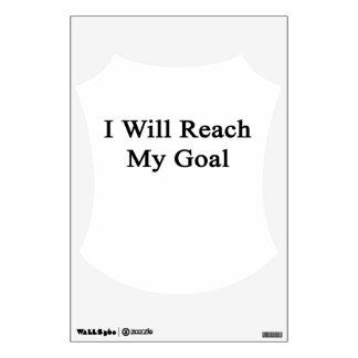 I Will Reach My Goal Room Sticker
