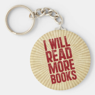 I Will Read More books Basic Round Button Keychain