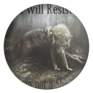 I Will Resist Wolf Plate