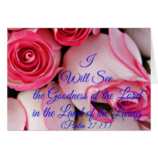 I will see the goodness of the Lord Card