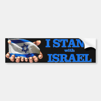 I Will Stand With Israel Car Bumper Sticker