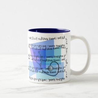 I Will Survive Nursing School Two-Tone Coffee Mug