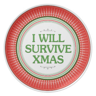 I Will Survive Xmas Fitness Inspiration Dinner Plate