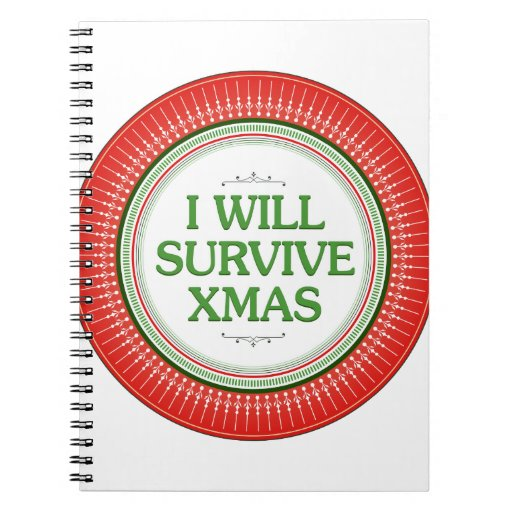 I Will Survive Xmas Fitness Inspiration Note Book