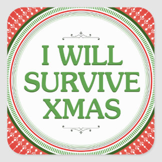 I Will Survive Xmas Fitness Inspiration Stickers