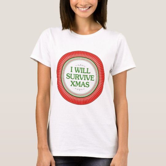 I Will Survive Xmas Fitness Inspiration T-Shirt