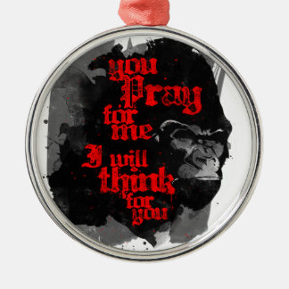 I Will Think For You Round Metal Christmas Ornament