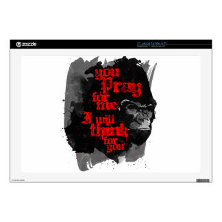 I Will Think For You Laptop Skin