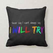 I will try throw pillow