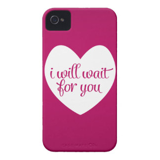 I Will Wait For You Pink Heart Case-Mate iPhone 4 Case