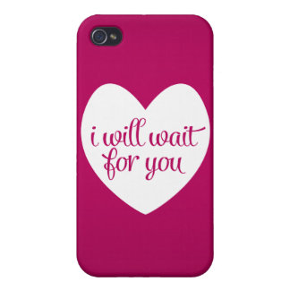 I Will Wait For You Pink Heart iPhone 4/4S Case