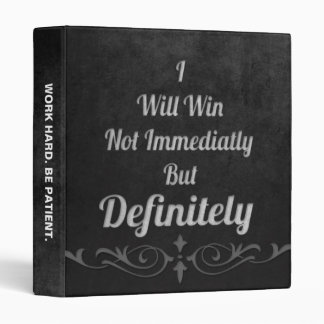 I Will Win - Motivational 3 Ring Binder