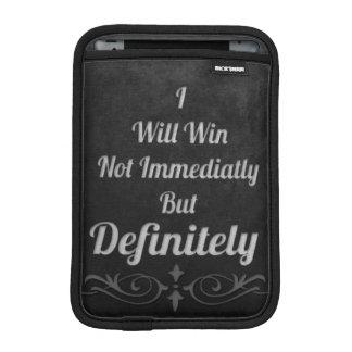 I Will Win - Motivational iPad Mini Sleeve