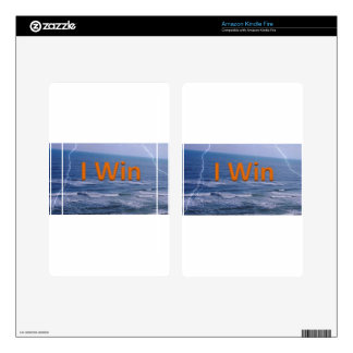 I Win Decal For Kindle Fire