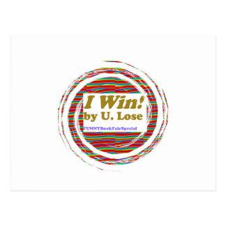 I WIN - funny books fair Hopeless Street LOWPRICE Postcard