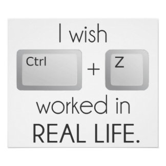 I Wish Ctrl Z Worked in Real Life Print