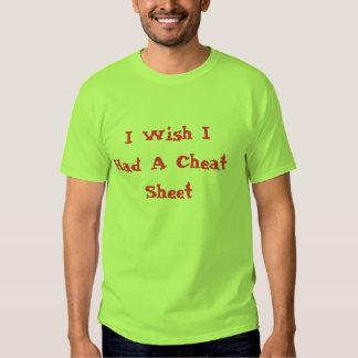 I Wish I Had A Cheat Sheet T-Shirt