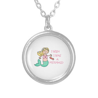 I Wish I Was A Mermaid Personalized Necklace