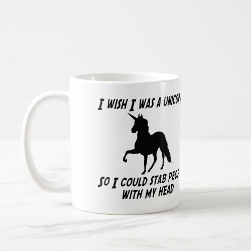 I WISH I WAS A UNICORN COFFEE MUG