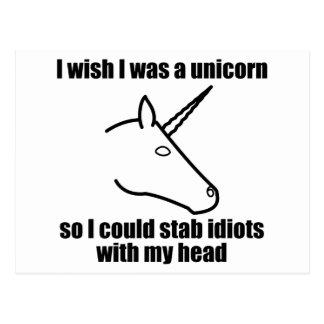 I Wish I Was A Unicorn Postcard