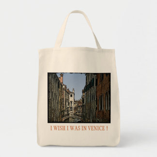 I WISH I WAS IN VENICE-1 CANVAS BAG