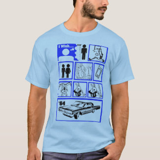 I Wish I was Taller Blue T-Shirt